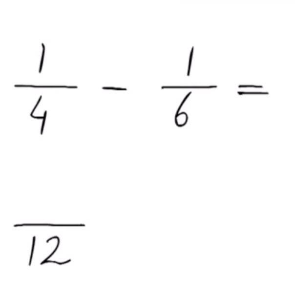 aftrekken ongelijknamige breuken met teller 1 groep6