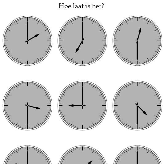 klokkijken hele uren