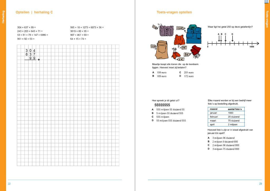 werkboek hele getallen, Cito oefenen