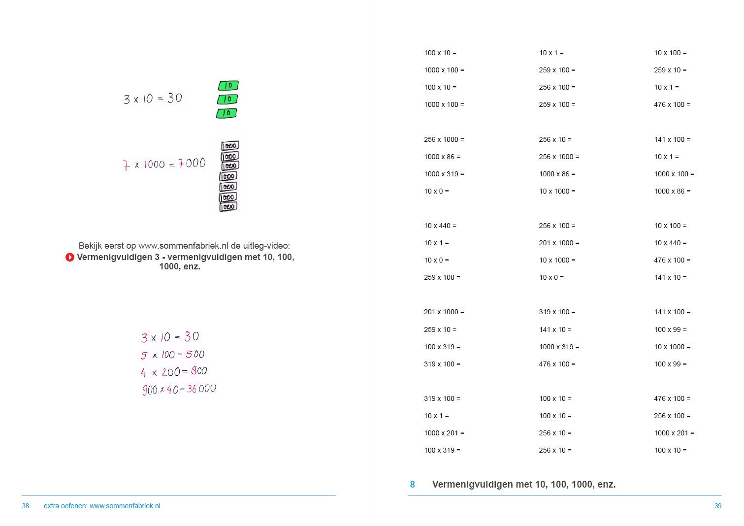 Favoriete Werkboek Hele getallen groep 5, 6, 7 en 8 - de sommenfabriek XN71