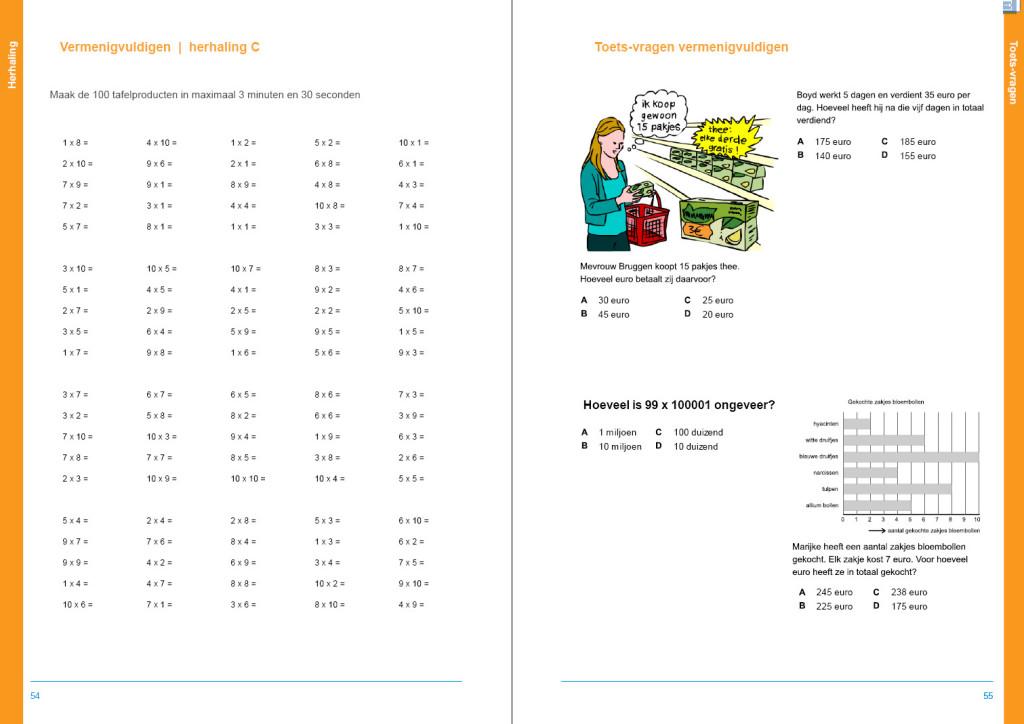 werkboek hele getallen, Cito verhaaltjessommen