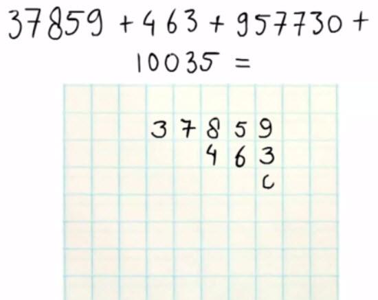 Zelf de getallen goed onder elkaar schrijven voor groep 3