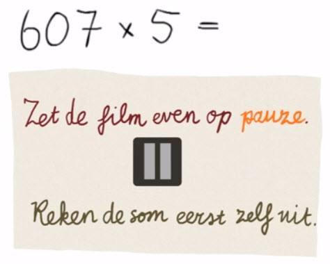 Vermenigvuldigen 6 - Vermenigvuldigen met onthouden, met een groot getal