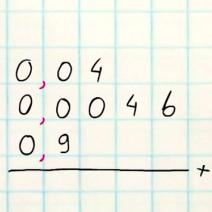 oefenen met kommagetallen optellen