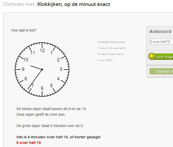 klokkijken, tot op de minuut
